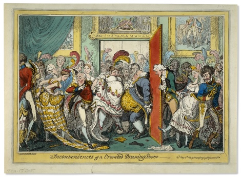 Inconveniences of a Crowded Room George Cruikshank, 1818 (British Museum - Prints and Drawings)